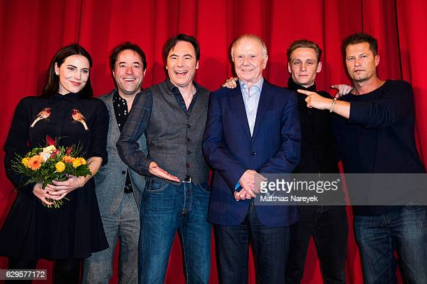 Michael Herbig, Jan Josef Liefers, Til Schweiger, Matthias Schweighoefer, Director Wolfgang Petersen and Antje Traue attend the German premiere of...