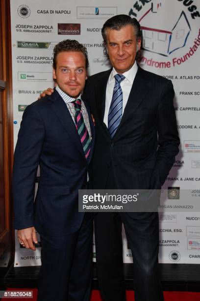 Michael Herklots and Alfredo Pecora attend Gianni Russo Honors the Supporters of TERI'S HOUSE at Rothmann's Steakhouse on April 12th 2010 in New York...