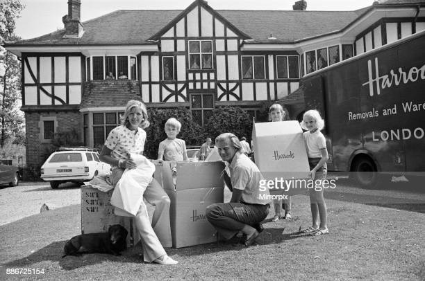 Michael Heseltine and family move in to a new house in Oxfordshire 14th August 1973