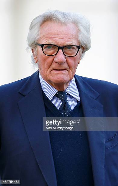 Michael Heseltine attends a service of thanksgiving for the life of John SpencerChurchill 11th Duke of Marlborough at The Guards Chapel Wellington...