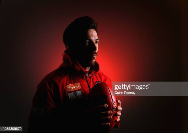 Michael Hibberd of the Demons poses during a Melbourne Demons AFL media opportunity at AAMI Park on September 18 2018 in Melbourne Australia