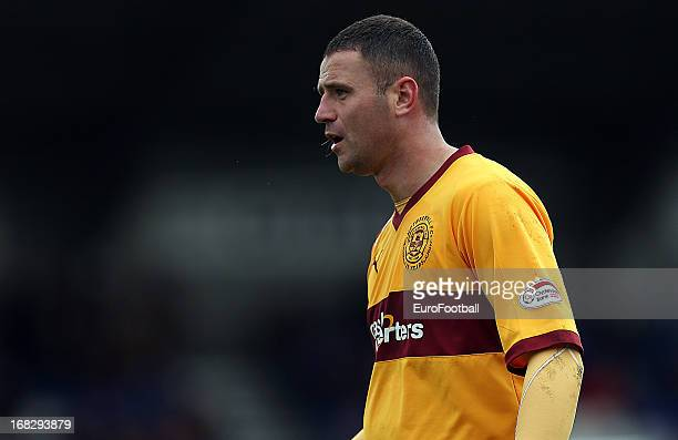 Michael Higdon of Motherwell FC in action during the Clydesdale Bank Scottish Premier League match between Inverness Caledonian Thistle FC and...