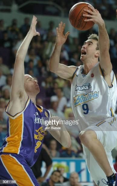 Michael Hill of the Bullets drives to the basket, during NBL match between Sydney Kings and Brisbane Bullets at Sydney Entertainment Centre, March...