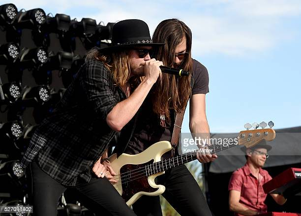 Michael Hobby and Graham Deloach of A Thousand Horses perform onstage during 2016 Stagecoach California's Country Music Festival at Empire Polo Club...