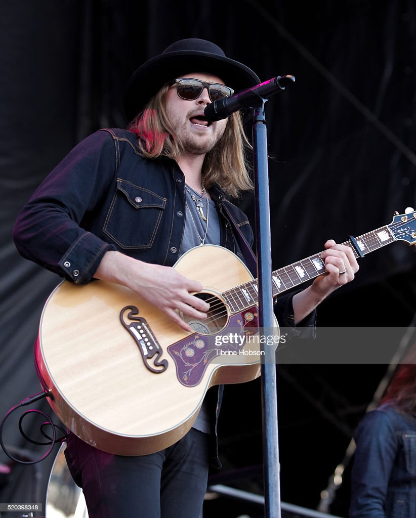 Michael Hobby of A Thousand Horses performs at Country Thunder Arizona 2016 at Country Thunder West on April 10, 2016 in Florence, Arizona.