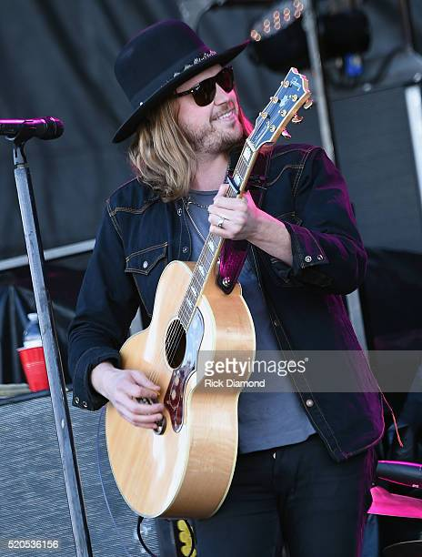 Michael Hobby of A Thousand Horses performs at County Thunder Music Festivals Arizona Day 4 on April 10 2016 in Florence Arizona