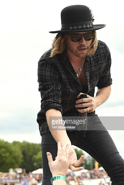 Michael Hobby of A Thousand Horses performs during Country Jam USA on July 23 2016 in Eau Claire Wisconsin
