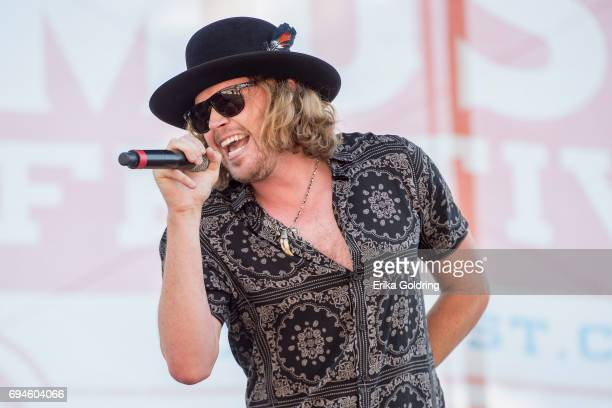 Michael Hobby of A Thousand Horses performs during the 2017 CMA Music Festival on June 10 2017 in Nashville Tennessee