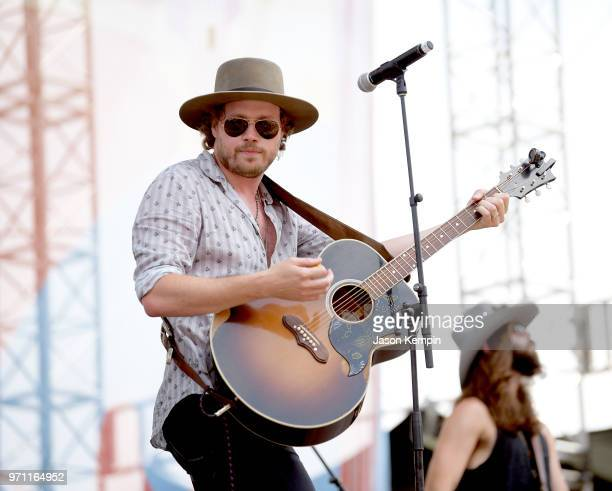 Michael Hobby of musical group A Thousand Horses performs onstage during the 2018 CMA Music festival at the Chevy Riverfront Stage on June 10 2018 in...