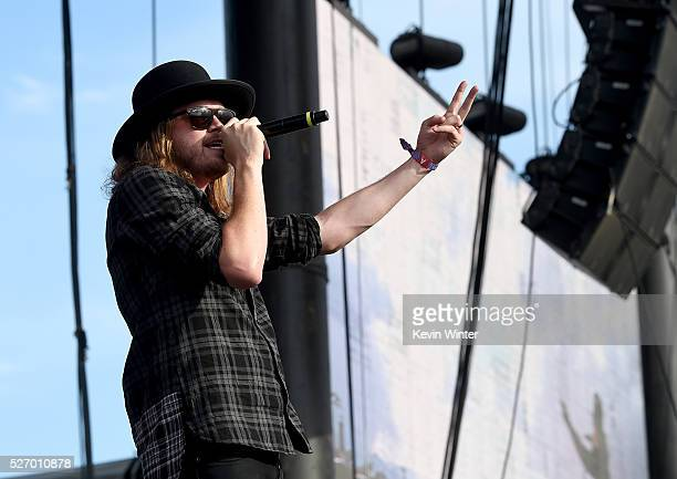 Michael Hobby of the band A Thousand Horses performs during 2016 Stagecoach California's Country Music Festival at Empire Polo Club on May 01 2016 in...
