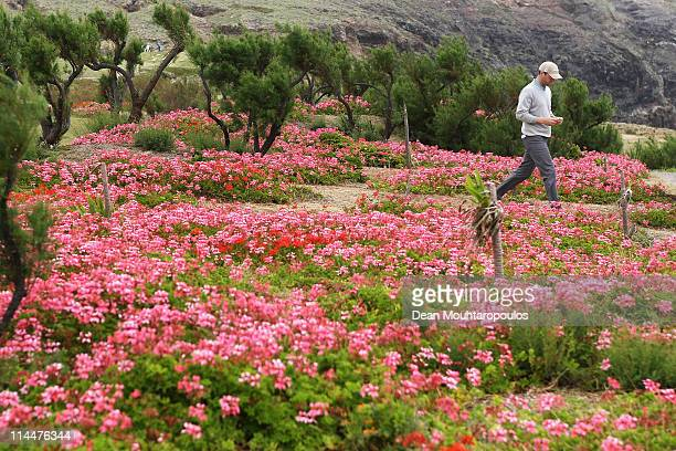 Michael Hoey of Northern Ireland walks to the 18th tee during day two of the Madeira Islands Open on May 20 2011 in Porto Santo Island Portugal