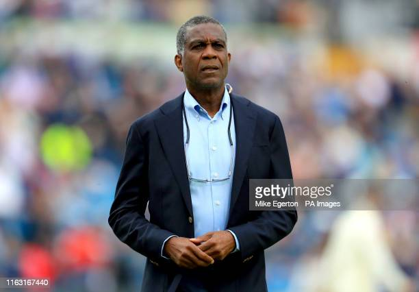 Michael Holding during day one of the third Ashes Test match at Headingley, Leeds.