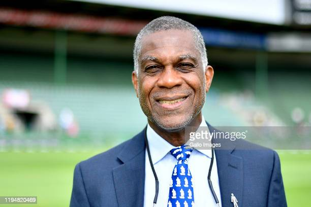 Michael Holding is a Jamaican cricket commentator and former cricketer during day 5 of the 3rd Test match between South Africa and England at St...