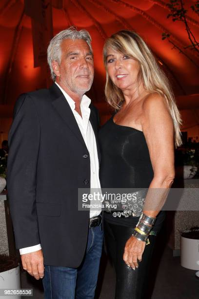 Michael Holland and Claudia Carpendale attend the Gerry Weber Open Fashion Night 2018 at Gerry Weber Stadium on June 23 2018 in Halle Germany