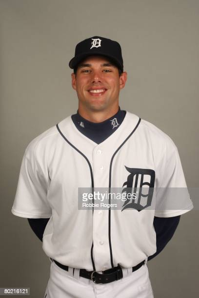 Michael Hollimon of the Detroit Tigers poses for a portrait during photo day at Marchant Stadium on February 23 2008 in Lakeland Florida