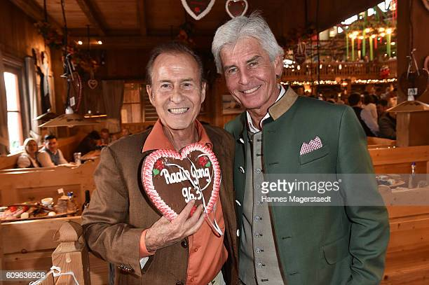 Michael Holm and Frederic Meisner during the Radio Gong 963 Wiesn during the Oktoberfest 2016 on September 21 2016 in Munich Germany