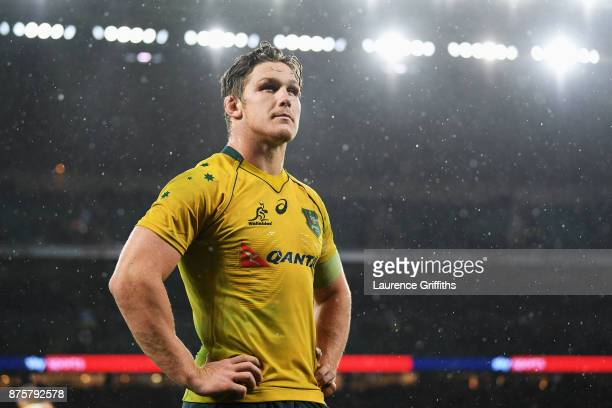 Michael Hooper of Australia during the Old Mutual Wealth Series match between England and Australia at Twickenham Stadium on November 18 2017 in...