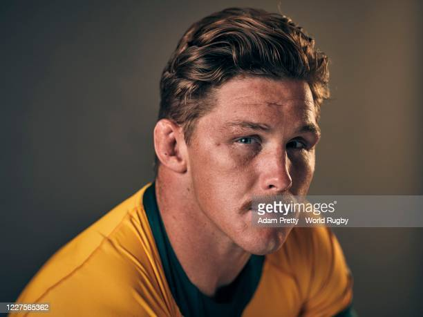 Michael Hooper of Australia poses for a portrait during the Australia Rugby World Cup 2019 squad photo call on September 10, 2019 in Odawara,...
