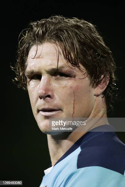 Michael Hooper of the Waratahs looks on after winning the round nine Super Rugby AU match between the Waratahs and the Melbourne Rebels at Leichhardt...