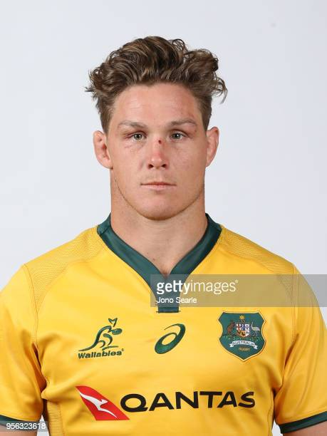 Michael Hooper poses during the Australian Wallabies headshot session on May 7 2018 in Gold Coast Australia