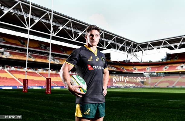 Michael Hooper poses for a photo during the Wallabies Captain's Run at Suncorp Stadium on July 26 2019 in Brisbane Australia