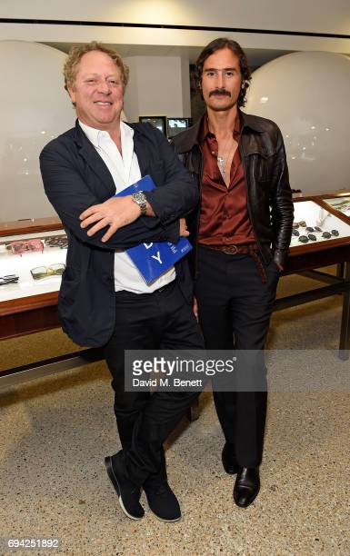 Michael Hoppen and Ben Cobb attend a cocktail event for the launch of a special Gucci PreFall capsule exclusive to Dover Street Market on June 9 2017...