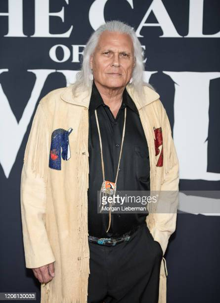 """Michael Horse arrives at the premiere of 20th Century Studios' """"The Call Of The Wild"""" at El Capitan Theatre on February 13, 2020 in Los Angeles,..."""