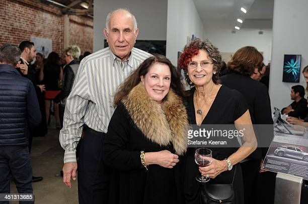 Michael Hort, Pattie Miller and Susan Hort attend The Rema Hort Mann Foundation LA Artist Initiative Benefit Auction on November 21, 2013 in Los...