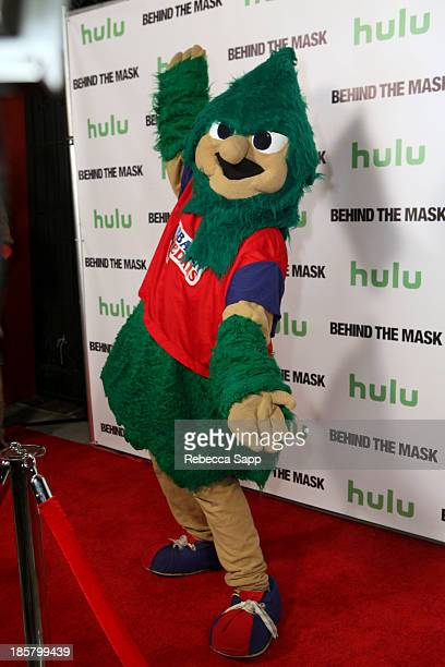 Michael Hostetter as Lebanon High School's Rooty the Cedar Tree at Hulu Presents The LA Premiere Of 'Behind the Mask' at the Vista Theatre on October...