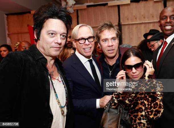 Michael Houghton Tommy Hilfige Andy Hilfiger and Ally Hilfiger prepare backstage at Kia STYLE360 Hosts Andy Hilfiger Presents ARTISTIX By Greg...