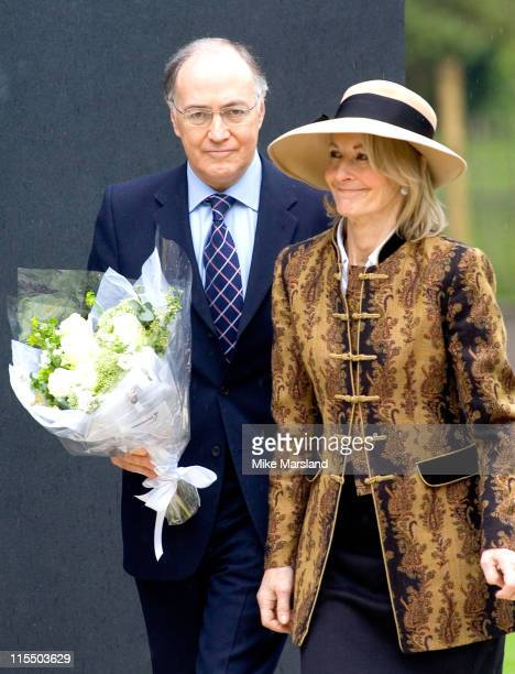 Michael Howard and his wife Sandra attend the unveiling of the national police memorial designed by Sir Norman Foster Building work began on June 28...