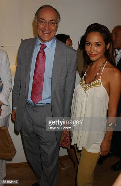 Michael Howard and Myleene Klass attend The Sixties Set An Inside View By Robin DouglasHome at the Air Gallery June 28 2005 in London England The...