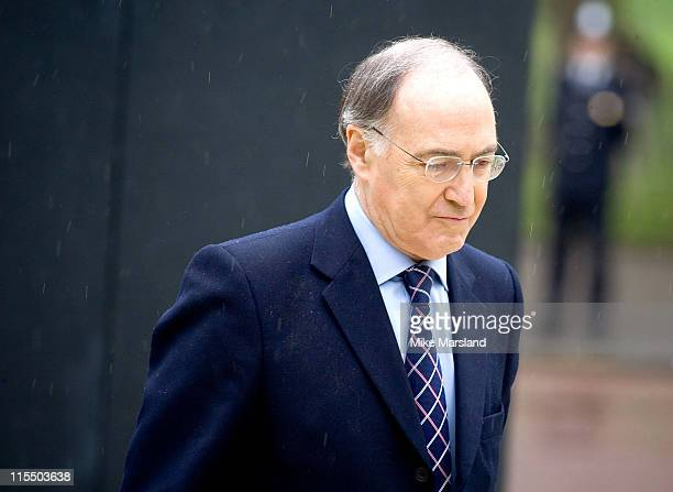 Michael Howard attends the unveiling of the national police memorial designed by Sir Norman Foster Building work began on June 28 last year after...