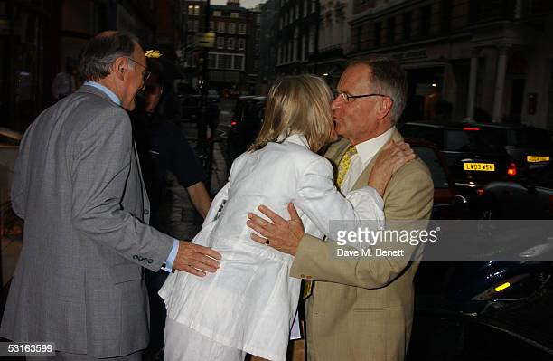 Michael Howard Sandra Howard and Lord Jeffrey Archer attend the Private View for The Sixties Set An Inside View By Robin DouglasHome at The Air...