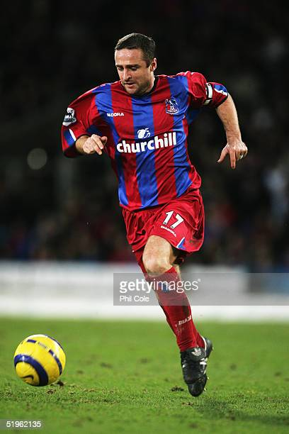Michael Hughes of Crystal Palace in action during the Barclays Premiership match between Crystal Palace and Aston Villa at Selhurst Park on January 3...