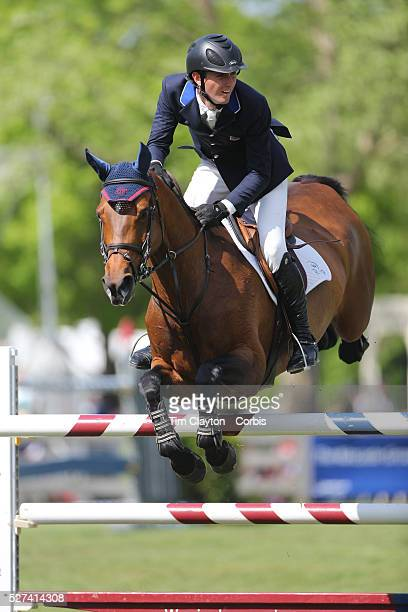 Michael Hughes riding Luxina in action during the $100000 Empire State Grand Prix presented by the Kincade Group during the Old Salem Farm Spring...