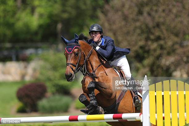 Michael Hughes riding Macarthur in action during the $100000 Empire State Grand Prix presented by the Kincade Group during the Old Salem Farm Spring...
