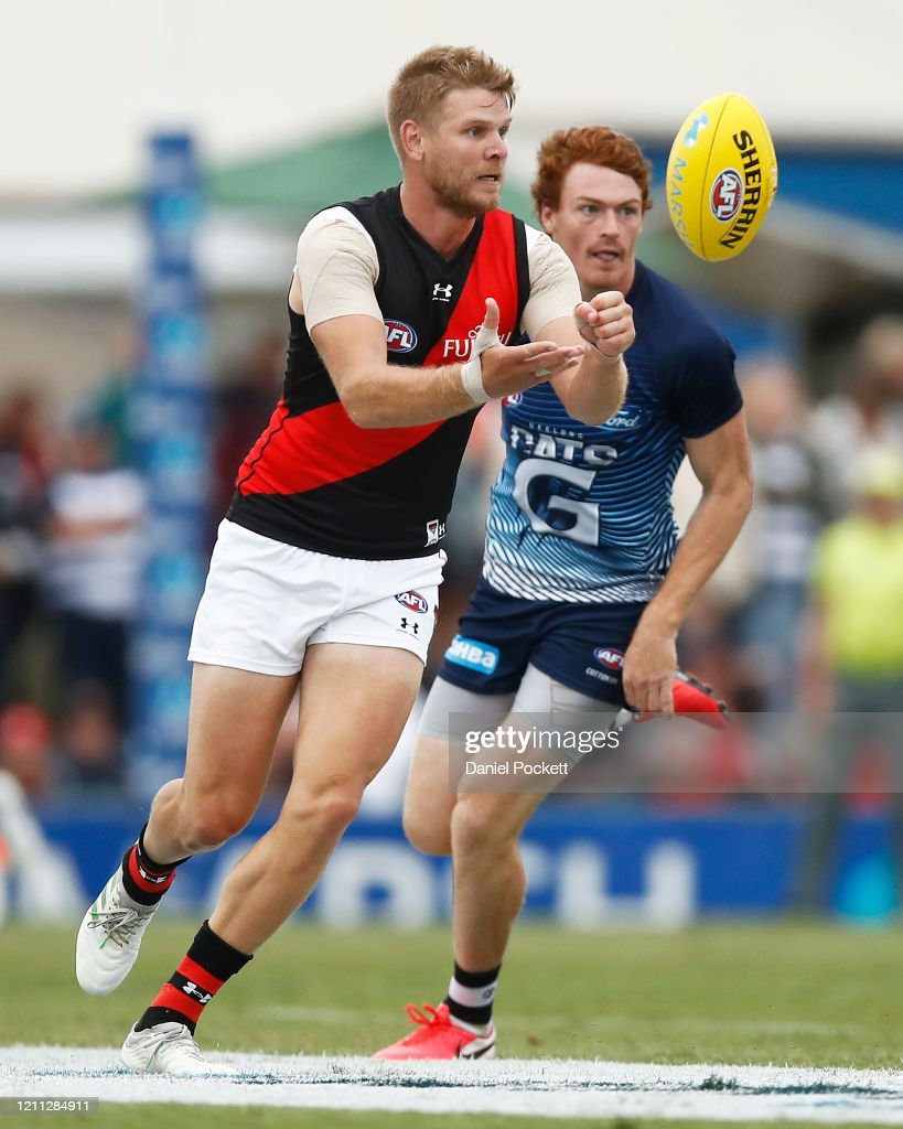 Michael Hurley Of The Bombers Handpasses The Ball During The Marsh News Photo Getty Images
