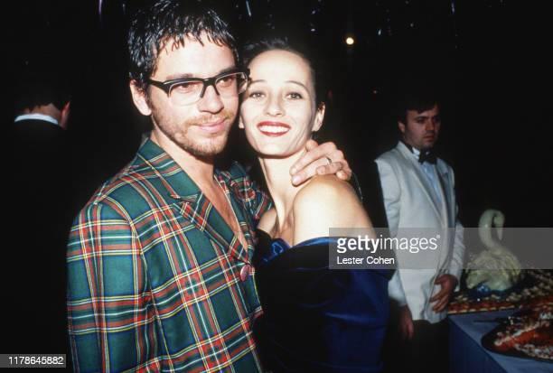 Michael Hutchence and Rosanna Crash attend an event circa 1997.