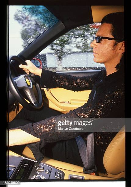 Michael Hutchence driving driving a Ferrari Sydney Australia 1996