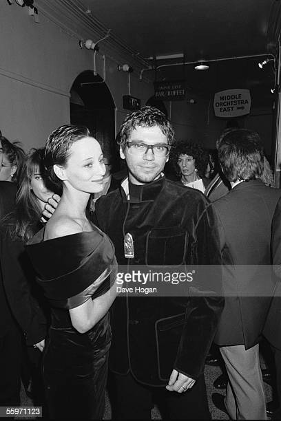 Michael Hutchence, lead singer of Australian rock group INXS, attends the BMI Film and TV Awards, 1989.