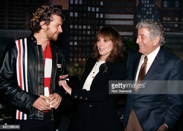 Michael Hutchence Marlo Thomas and Tony Bennett attend Elvis The Tribute at The Pyramid Arena in Memphis Tennessee October 08 1994