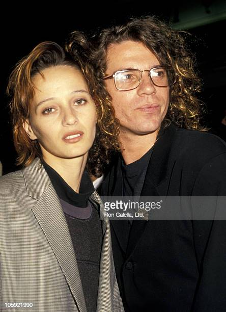 """Michael Hutchence of INXS and guest during """"Hail Hail Rock n' Roll"""" Los Angeles Premiere at AMC Theater in Los Angeles, California, United States."""