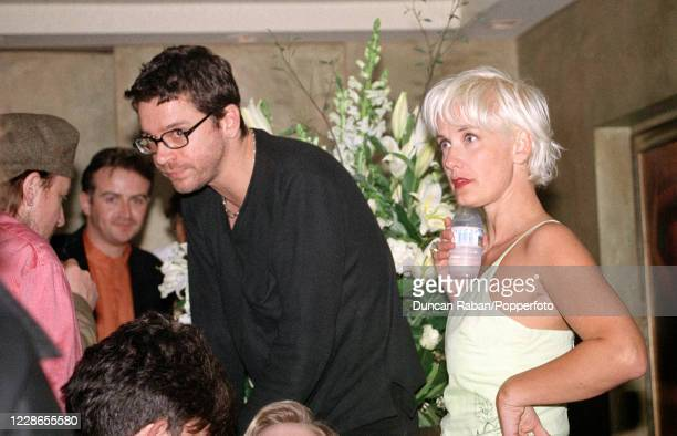Michael Hutchence of INXS and his girlfriend, TV presenter Paula Yates, attending Janet Jackson's party in London, England on April 6, 1995.