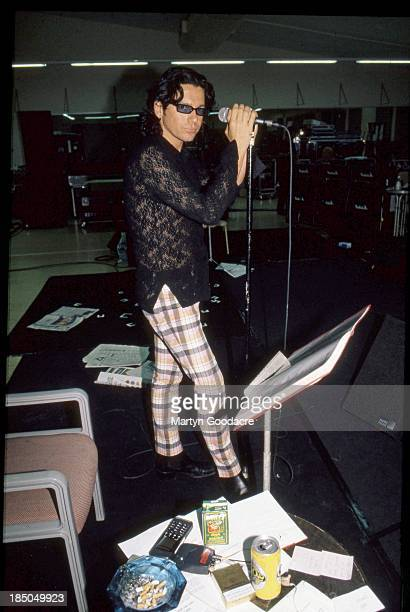 Michael Hutchence of INXS at a rehearsal in Sydney Australia 1996