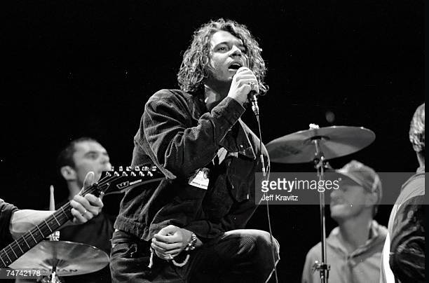 Michael Hutchence of Inxs at the 1990 MTV VMA's Rehearsal at Universal Amphitheater in Universal City CA