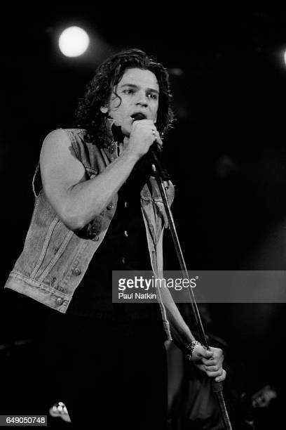 Michael Hutchence of INXS at the Aragon Ballroom in Chicago Illinois November 24 1985