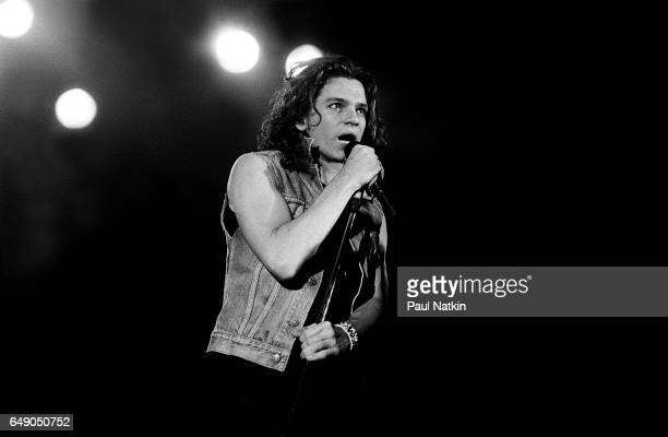 Michael Hutchence of INXS at the Aragon Ballroom in Chicago Illinois, November 24, 1985.