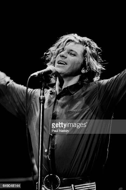 Michael Hutchence of INXS at the Coronado Theater in Rockford Illinois August 9 1986