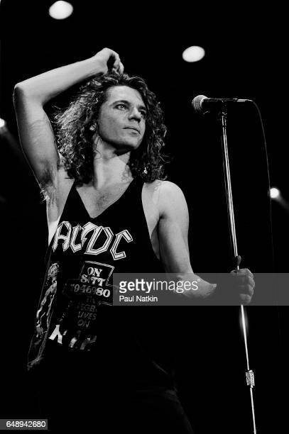 Michael Hutchence of INXS at the Miami Arena in Miami, Florida, March 1, 1988.